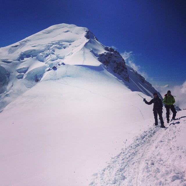 Härligt att vara tillbaka på Mont Blanc!