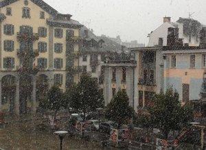 Snö i Chamonix