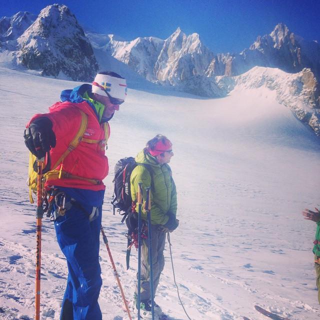 2 bra dagar med utbildning om hur utbildningen ska gå till!#Chamonix #sbo #ifmga #bergsguide