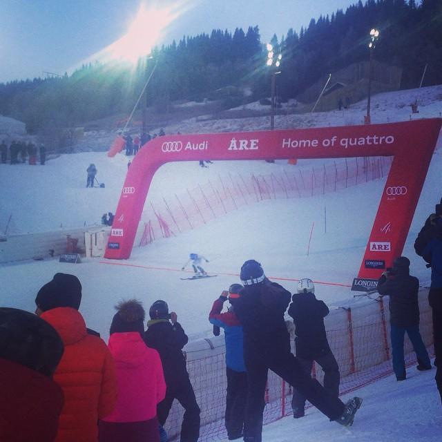 Favorit i repris, men idag var det seger för Maria PH även svenskt på tredjeplats med Frida Hansdotter!#åre #slalom #elevenate