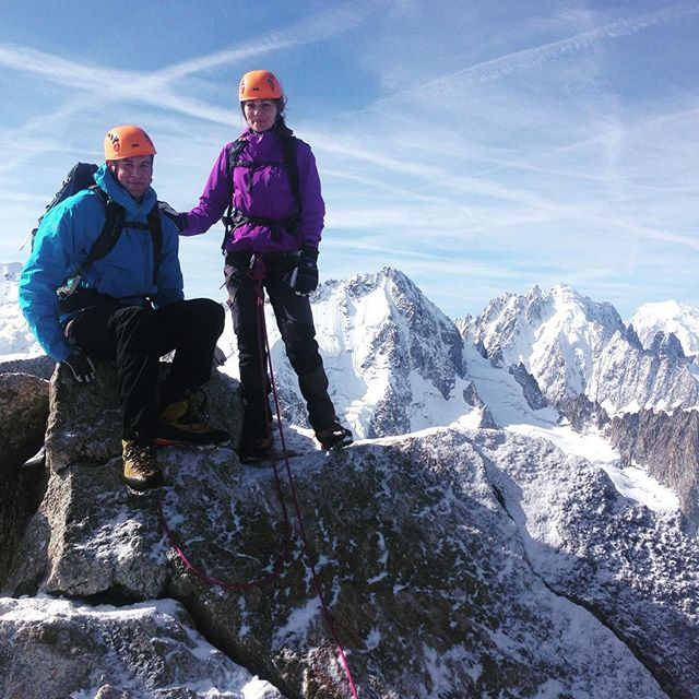 Aiguille du Tour blev dagens tur på väg till Trient. #Bergsresor #montblancspecialisten #trient #montblanc #elevenate #dynastar