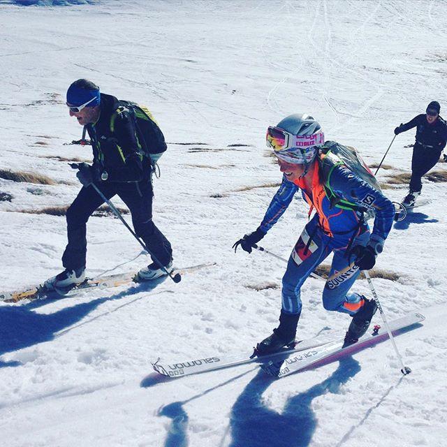 Skimo tävling i Le Tour med bra startfält! Emelie kände sig seg i kroppen men humöret och placeringen var på topp ändå! #chamonix #letour #dynastar #elevenate #bergsresor