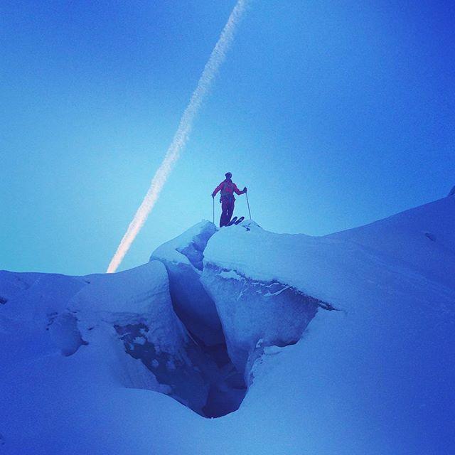 Dagen äventyr med @mountainrelations blev en tur på #valleeblanche #bergsresor #chamonix #elevenate #dynastar