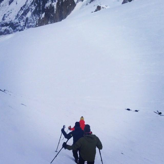 Skulle åka Vallee Blanche men vi han också med en tur på Aiguille de Toule!#chamonix #aiguilledumidi #dynastar #elevenate #bergsresor