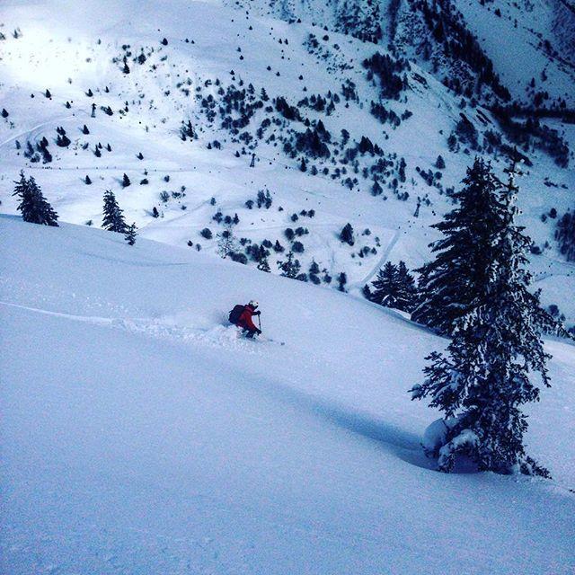 Le Tour bjuder på kanon fin orörd snö om man använder stighudar i 20 minuter!
