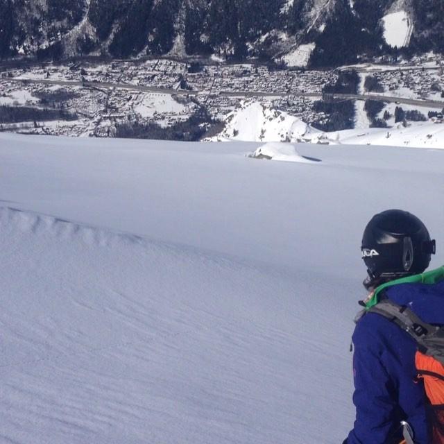 @carolainen har en fin avslutning efter Glacier Rond!#glacierrond #chamonix #elevenate #dynastar #bergsresor