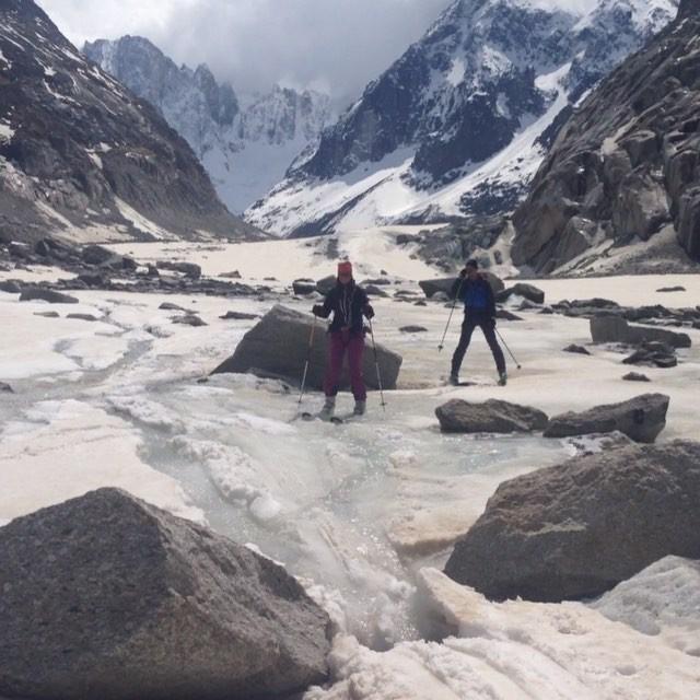 Sista åket på Vallee Blanche för den här säsongen!#grandenvers #chamonix #bergsresor #dynastar #elevenate