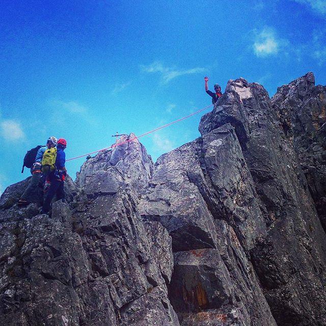 Aspirant examen fortsätter för dom blivande bergsguiderna.#gastlosen #sbo #bergsresor #elevenate