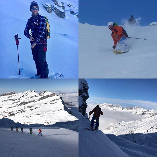 En fin vecka med en heldel sökande efter snö runt omkring i alperna avslutar jag med finskjorta på dagens topptur!#engelberg #g3skis #elevenate #bergsresor