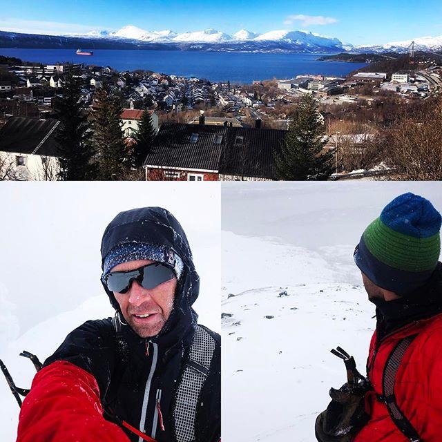 Skulle valt en tur norr om stan istället för söder som jag nu valde. Övre bilden är tagen norrut från Narvik och nedre bilderna är från Simlefjellet 30 minuter söder om Narvik! #skitour #narvik #elevenate #dynafitsweden #g3gear #bergsresor
