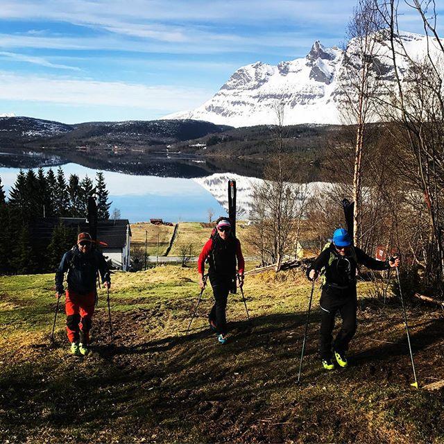 Fin morgon på nytt berg med rutinerade grabbar!#narvik #skitouring #bergsresor #elevenate #dynafitsweden #g3gear