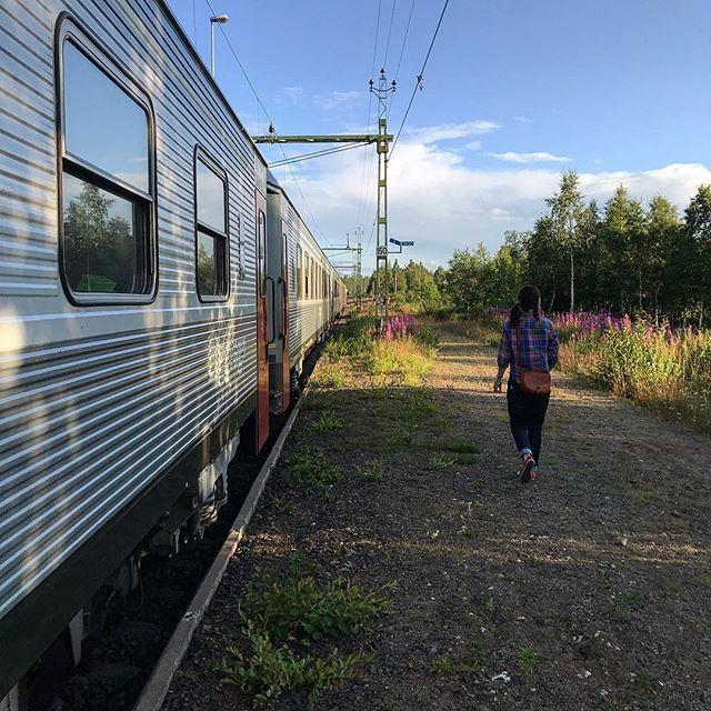 Semestern har börjat, mot Sundsvall för klättring, löpning, glass och bad!