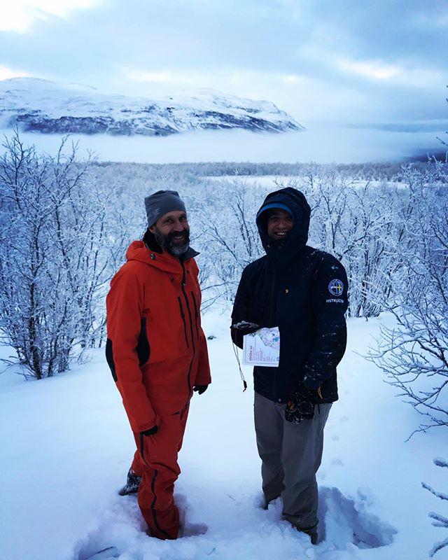 Förberedelse inför is/navigationskurs för nya bergsguider i Abisko!#svenskabergsguideorganisationen #sbo #fjällräven #abiskomountainlodge #abisko
