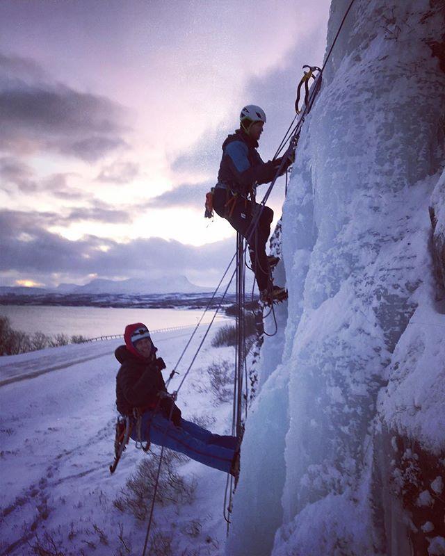 Sista dagen på sbo;s is och navigationskurs avslutas med räddningsövningar!Nu kör vi vidare med skidblocken i utbildningen!#svenskabergsguideorganisationen #sbo #fjällräven #bergsresor #abisko #narvik