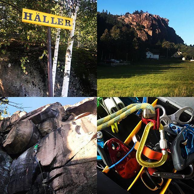 SKF instruktörsseminarium bjuder på  finväder, klättring, tester av bromsar och tekniker!#häller #bohuslän #svenskaklätterförbundet #bergsresor #elevenate #dynafitsweden