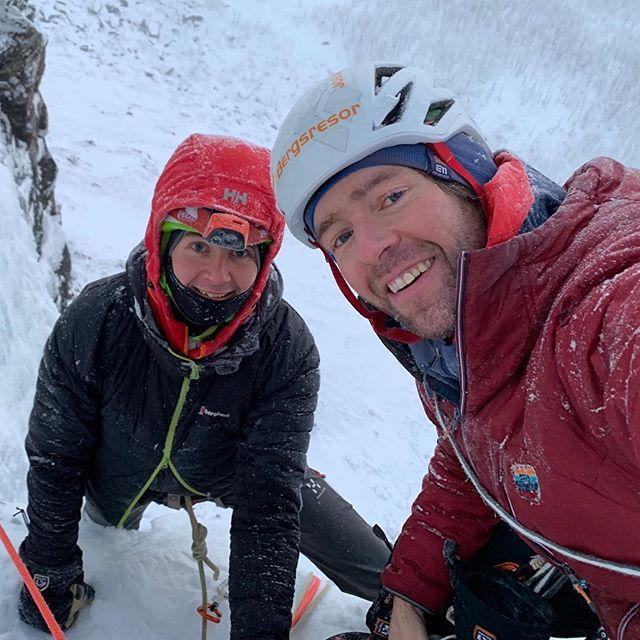 Bra sällskap på Stora Blå idag!#bergsresor #narvikmountainguides #svenskabergsguideorganisationen