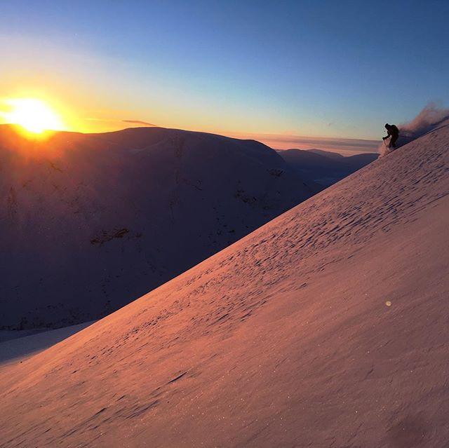 Gårdagens tur på Gagnesaxla och Meraftenstiden var något alldeles extra, puder i alla riktningar inte ett skidspår på någon fjällsida och säsongens första solstrålar! 📸 @micke_ekenstam #bergsresor #narvik #dynafitsweden #tlt8