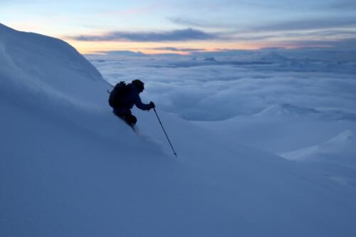 Frostisen 1700 meter i fallhöjd