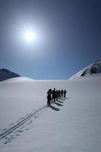 Skitour mot topp 1718